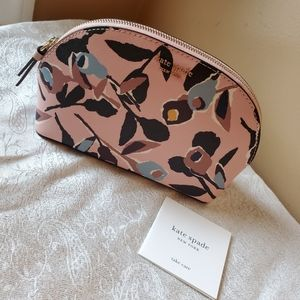Kate Spade Cameron Paper Rose Cosmetic Case